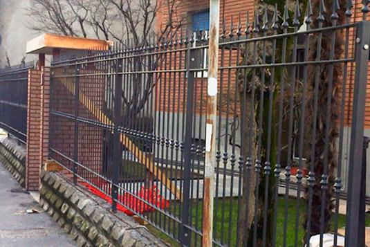 cancellata in ferro per villetta o condominio - Fratelli Gussoni fabbro Cornaredo