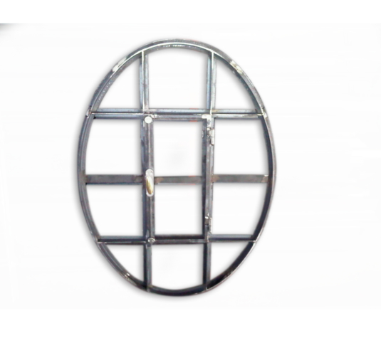 serramento ovale in ferro con barre verticali e orizzontali - Fratelli Gussoni fabbro Cornaredo