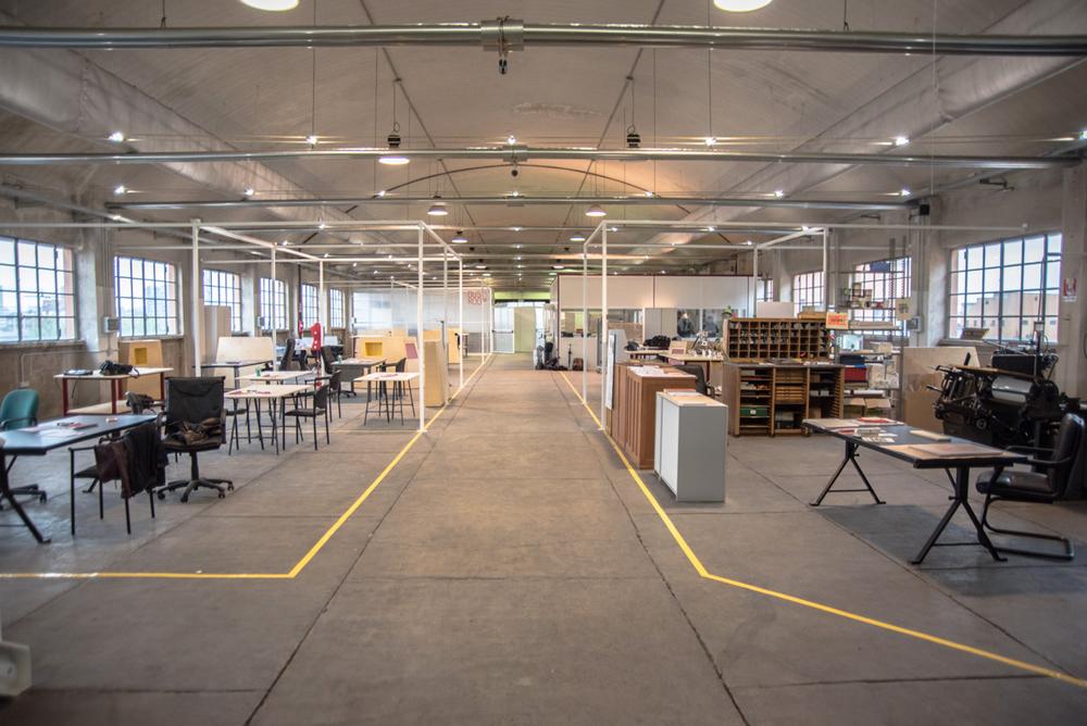 strutture per stand in fiera o spazi coworking realizzate in ferro da fabbro gussoni