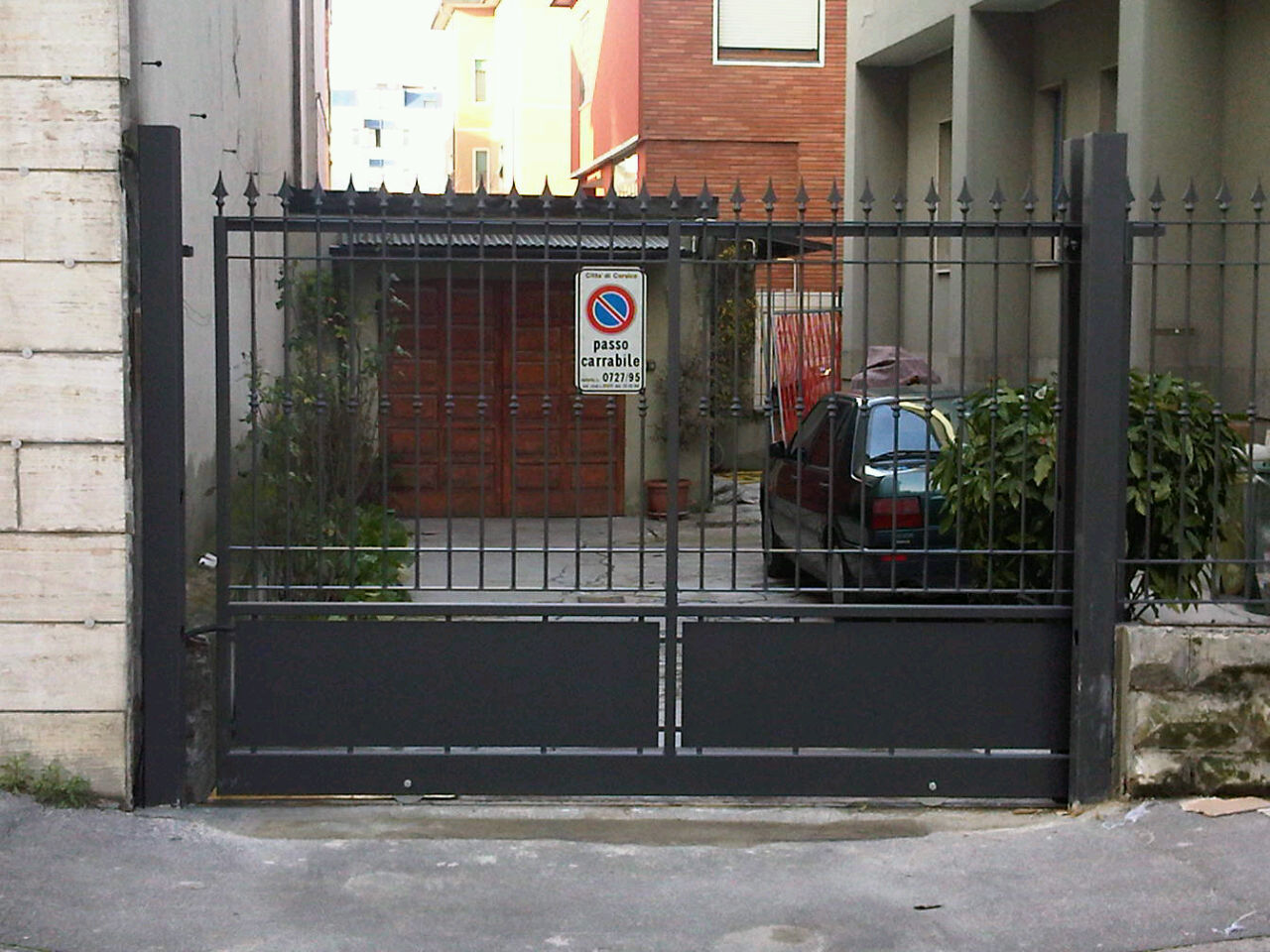 cancello carrabile per entrata in abitazione