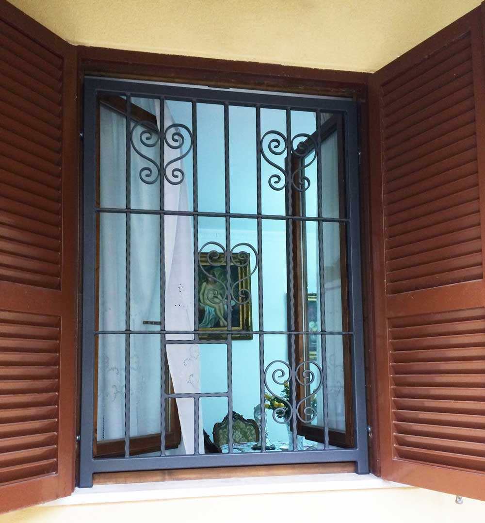 grata fissa per finestra antifurto antiladro