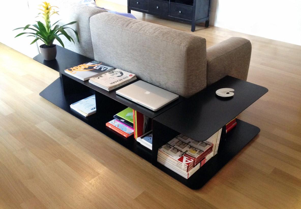 libreria ferro bassa angolare per divano soggiorno interior design Fratelli Gussoni