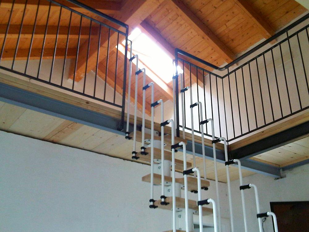 parapetto o recinzione di sicurezza per soppalco in casa nuova interior design