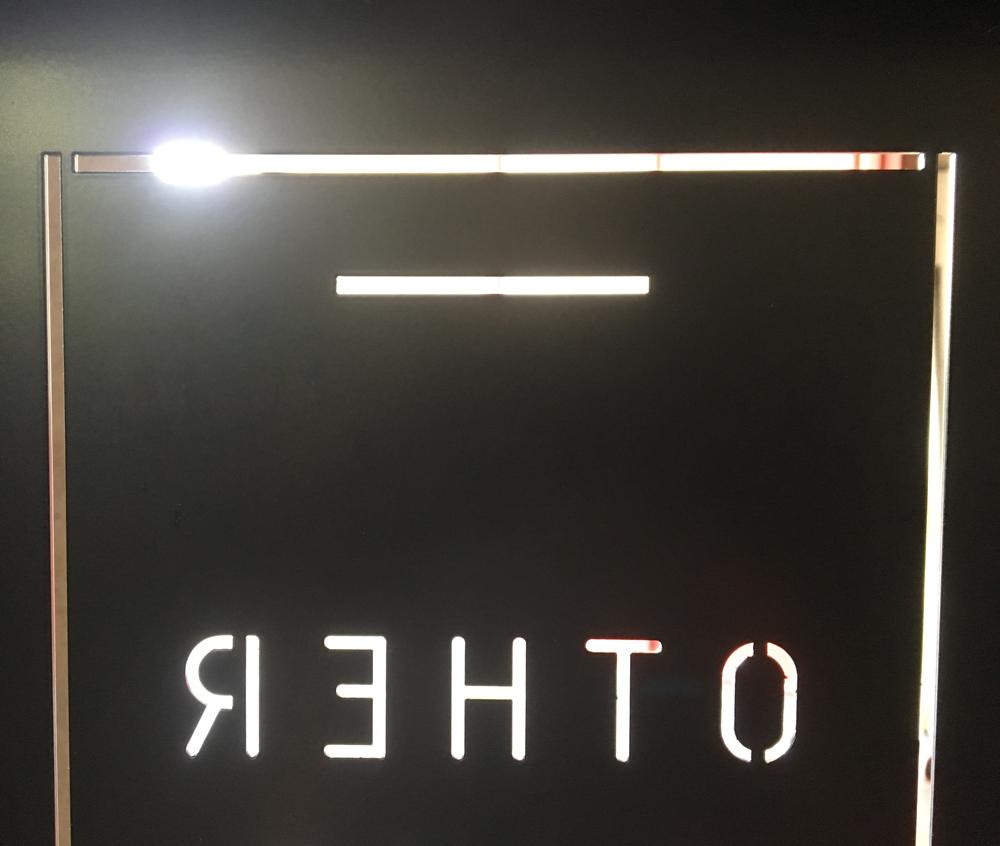 segnale stradale per centro commerciale in ferro tagliato laser