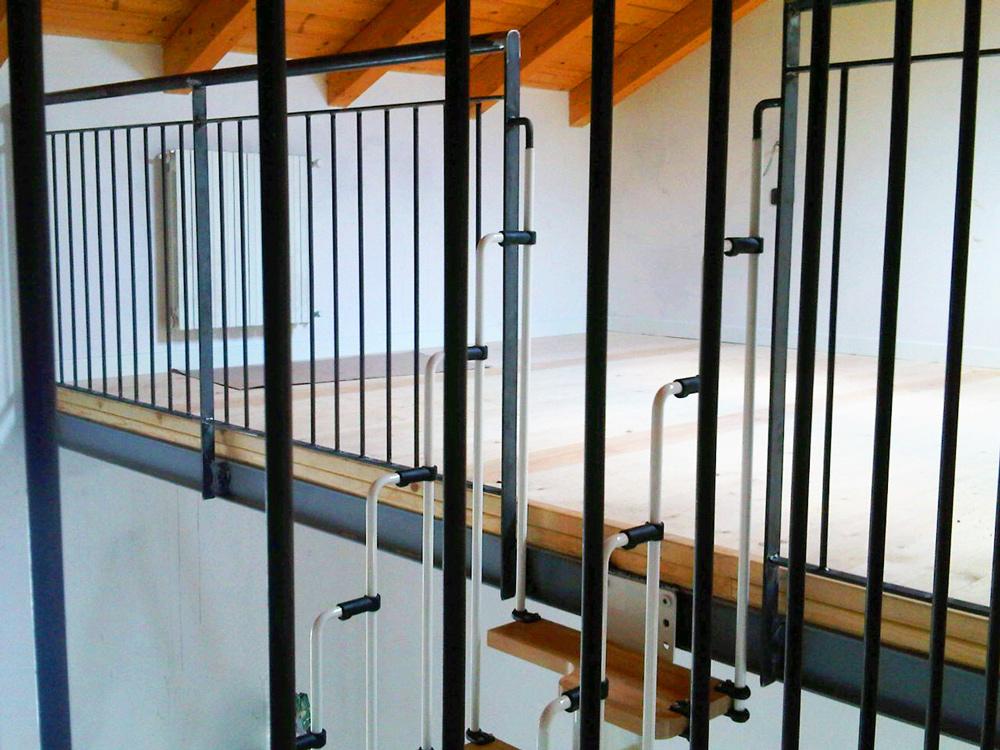 struttura soppalco in ferro per appartamento - ristrutturazione casa fabbro gussoni